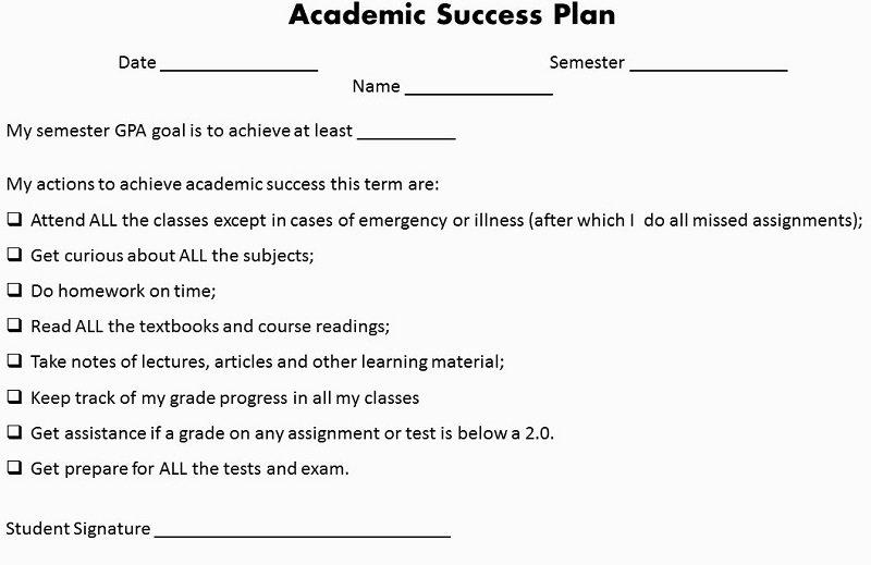 academic success plan