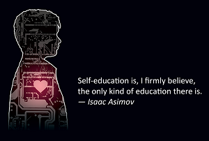 isaac asimov self education