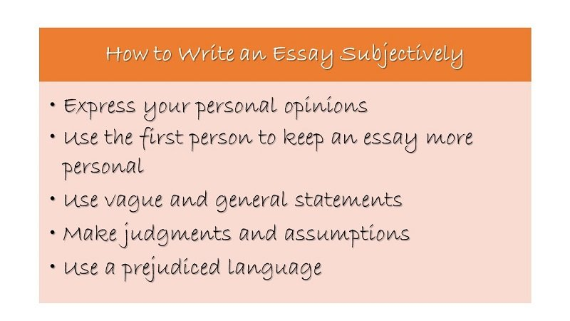 essay objective or subjective